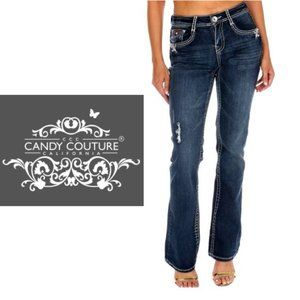 Candy Couture Straight Leg Jeans - Size 9